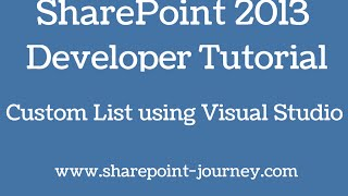SharePoint List Using Visual Studio 2012