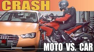 Moto Vs. Car CRASH TEST 2015 Ducati Multistrada Vs
