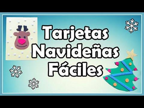 Como hacer tarjetas navide as con goma eva foami youtube - Ideas para hacer postales de navidad con ninos ...