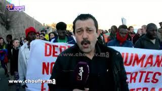 بالفيديو...شوف تيفي في قلب سبتة المحتلة ومظاهرة قوية ضد إسبانيا |