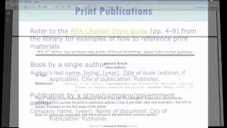 APA Citation style - SALS - Durham College