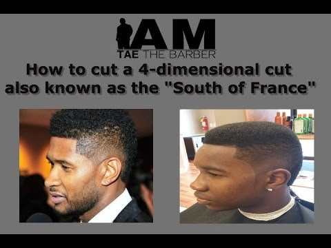 How to cut a 4-dimensional haircut/ South of France (Usher's haircut)