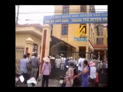 Nông dân Văn Giang tiếp tục biểu tình 30-7-2012