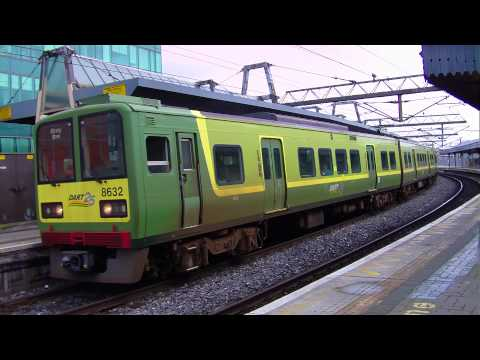 Dart train number 8632 arriving at Connolly station