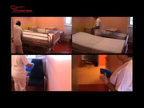 Protocole de nettoyage d'une chambre en milieu hospitalier
