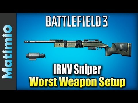 IRNV M40 Sniper - Terrible Weapon Setup (Battlefield 3 Gameplay/Commentary), Today I took up a challenge, which might be one of the worst weapon setups in Battlefield 3. This setup includes the M40A5 sniper rifle with the IRNV scope a...