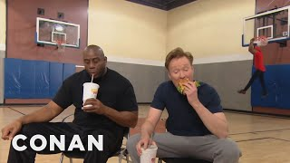 Conan Plays Horse With Magic Johnson  - CONAN on TBS