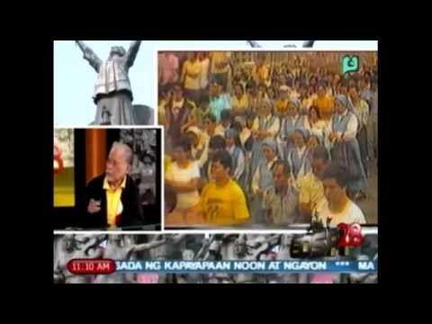 [Part 12/] EDSA 28 - 28th Anniversary of EDSA People Power Revolution - PTV Coverage. [02/25/14]
