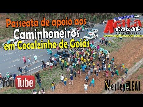 """""""Juntos por um Brasil melhor"""" #somostodoscaminhoneiros - Cocalzinho - GO"""