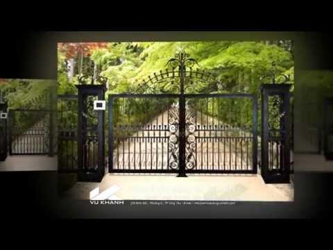 Cửa cổng đẹp, hang rao dep, cửa hàng rào đẹp Thi công các loại cửa nhà phố biệt thự vườn