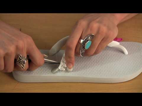 How To Glam-Up Your Flip Flops
