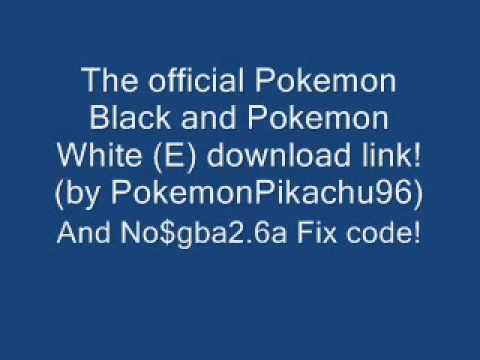 Pokemon Black And White (E) Download + No$gba fix code!