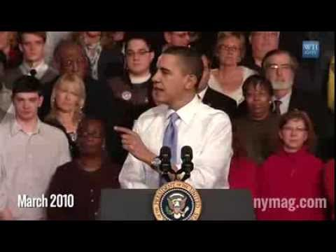 """If you like your health care plan, you can keep your health care plan.""  Barack Obama Supercut"