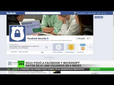 EU pidió datos de 19,000 usuarios de Facebook y 32,000 de Microsoft