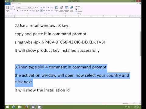 HOW TO ACTIVATE WINDOWS 8.1 RTM PRO 9600 PERMENANTLY FOR FREE