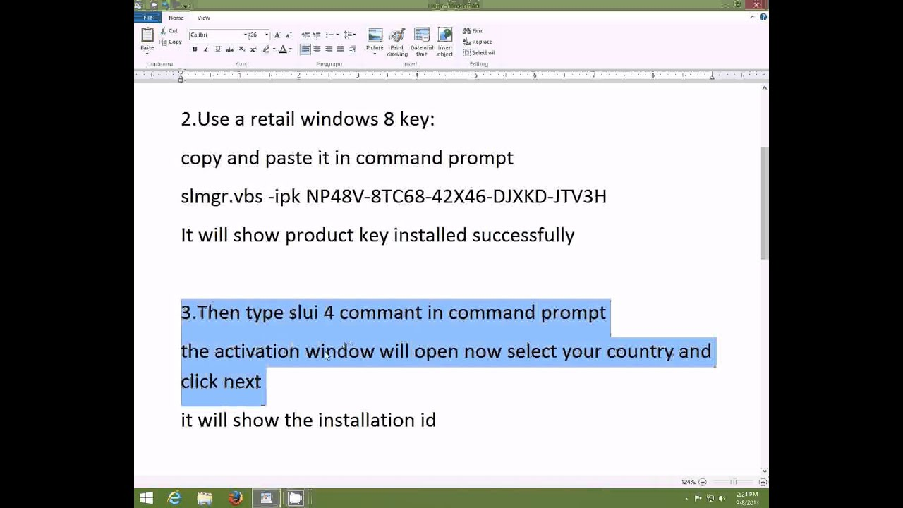 ... TO ACTIVATE WINDOWS 8.1 RTM PRO 9600 PERMENANTLY FOR FREE - YouTube