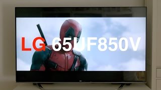Análisis Smart TV LG 65UF850V
