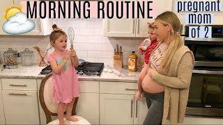 MORNING ROUTINE 2019 | PREGNANT MOM OF 2 | MORNING MOTIVATION | Tara Henderson