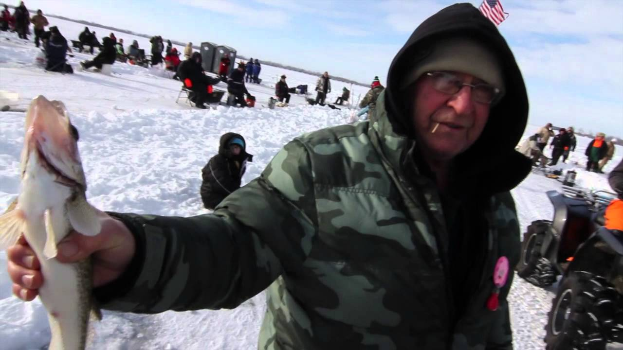 Best ice fishing tournament in america youtube for Devils lake nd ice fishing