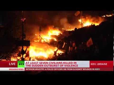 Kiev- The Ukrainian's deadliest battle back into chaos