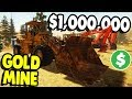GIANT GOLD MINING EQUIPMENT NEW MINE Gold Rush The Game Gameplay