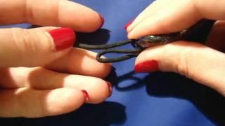 Collana Con Pendente In Vetro E Cotone Cerato Perline