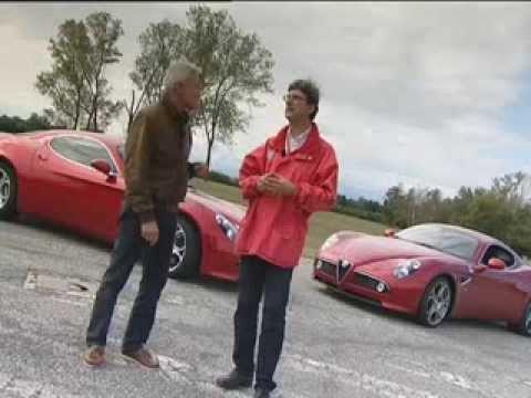 Ing Martino di Fiat Group a Balocco con la 8C Competizione