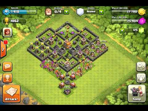 Clash of Clans - Great Level 7 Town Hall Defense Strategy #3 - YouTube