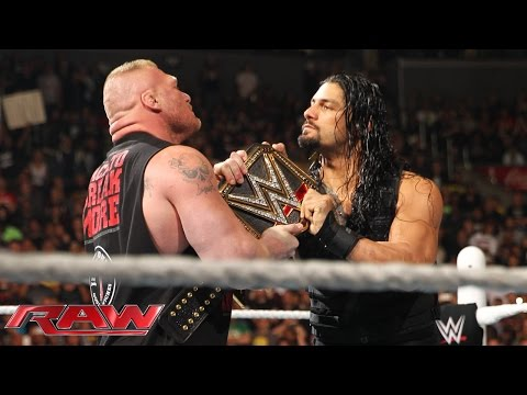 Roman Reigns confronts Brock Lesnar face to face: Raw, March 23, 2015