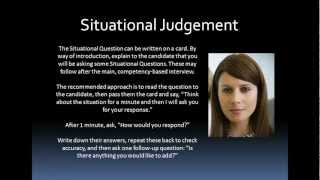 Competency Assessment Situational Judgement Tests (SJT