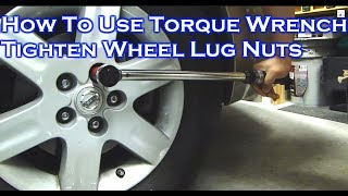 How To Adjust / Use / Store A Torque Wrench Tighten Car