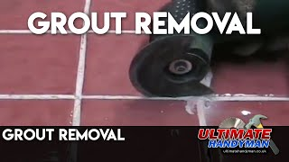 grout removal using the Bosch PMF 180E