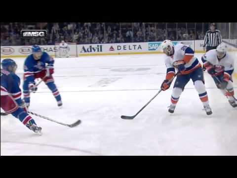 Thomas Hickey Goal : NY Islanders v NY Rangers : January 21 2014