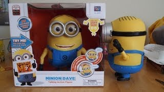 Minion Dave Despicable Me 2 Talking Action Figure Toy