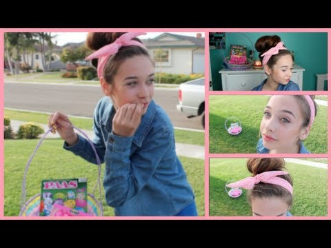 Simple Easter Hair & Makeup Tutorial!