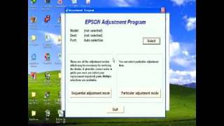 Software Adjustment / Resetter Program Epson T11/T10/T20E