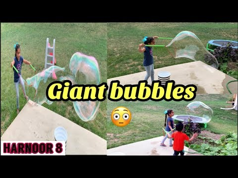Giant bubbles for kids! Fun playtime with bubble toy
