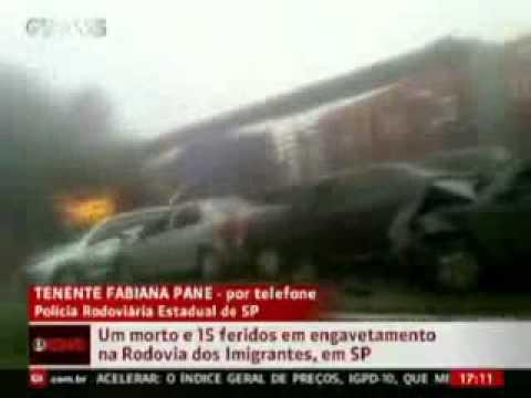 Rodovia dos Imigrantes: Novas imagens mostram acidente na Rodovia dos Imigrantes