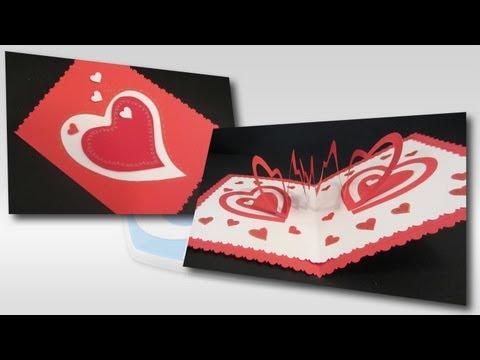 Tarjeta corazones (San Valentín). Valentine`s card.