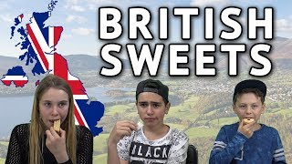 German Kids try British Sweets