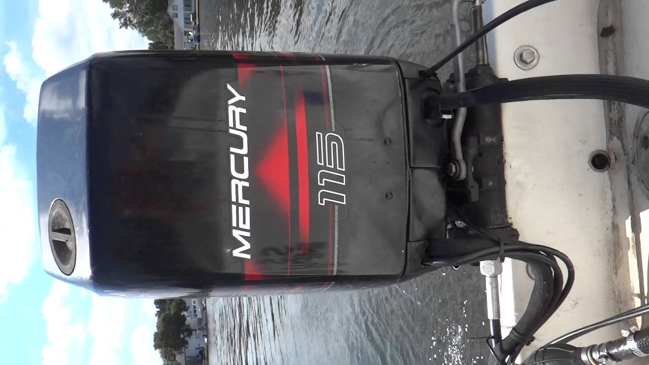 Idle On Mercury 115hp 2 Stroke Oil Injected Outboard Motor