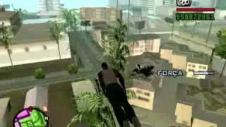 GTA SAN ANDREAS CJ VOANDO POR LOS SANTOS ( PC )