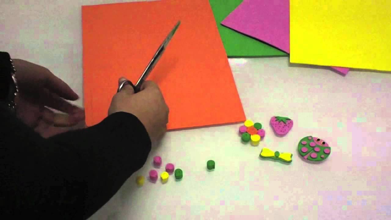 C mo hacer broches de goma eva youtube - Como hacer manualidades ...