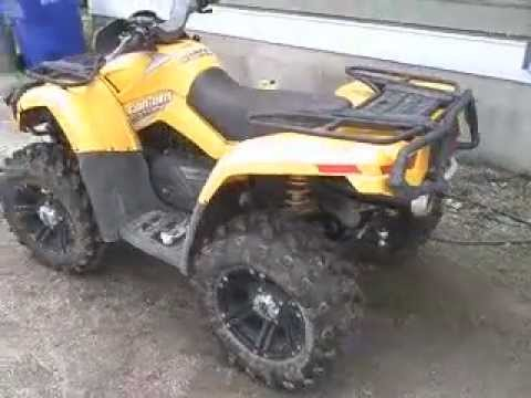 Can-Am Outlander 800, Ron Woods Exhaust, Cams, TB bore.