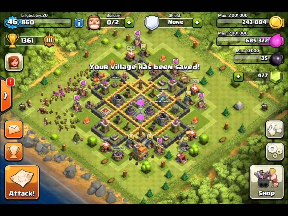 Clash of Clans Th7 Farming Base