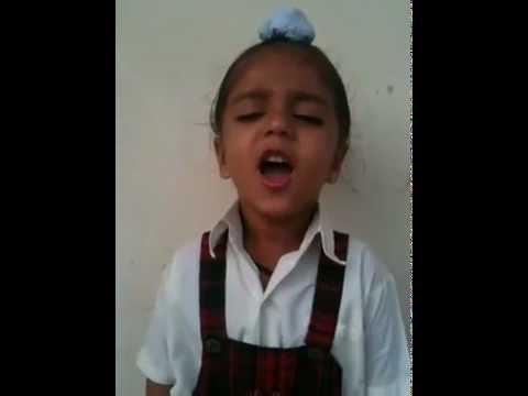 small child singing Jan Gan Man (Indian National Anthem)...VERY FUNNY VIDEO 2012 MUST Listen !!!