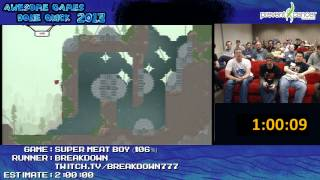 Super Meat Boy Speed Run In 1:47:36 Live (106% +Expert