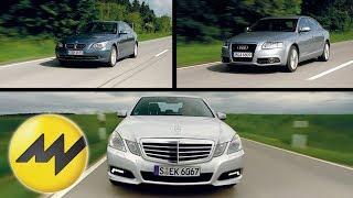 Audi A6 vs. Mercedes E-Klasse und BMW 530i Wolfgang Rother v videos