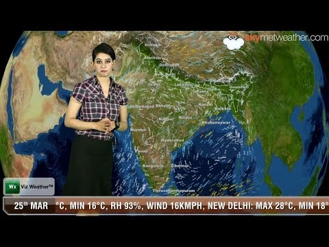 25/03/14 - Skymet Weather Report for India
