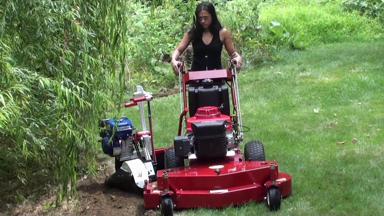 sidehitcher 39 s bed edger cutting a landscaping trench youtube